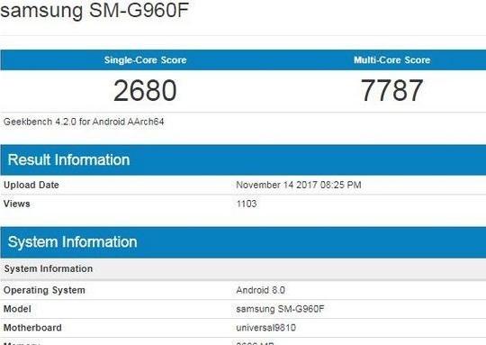 Samsung Galaxy S9 не удивит резким скачком производительности