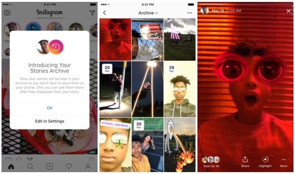 В Instagram теперь можно делать подборки из ранее опубликованных историй