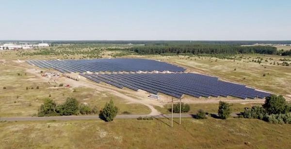Под Киевом запустили солнечную станцию мощностью 6 МВт