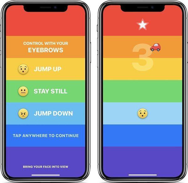 Для iPhone X выпустили игру, в которую нужно играть бровями