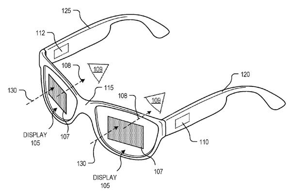 Google патентует «умные» очки с новой конструкцией